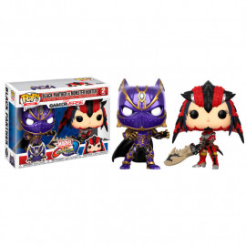 Pack de 2 Figuras FUNKO POP! Vinyl MARVEL vs. Capcom: Black Panther vs. Monster Hunter