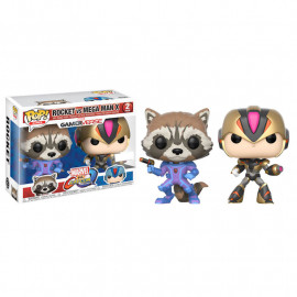 Pack de 2 Figuras FUNKO POP! Vinyl MARVEL vs Capcom: Rocket vs. MegaMan X Exclusive