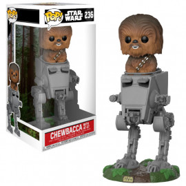 Figura FUNKO POP! Vinyl Star Wars: AT-ST with Chewbacca Deluxe
