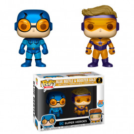 Pack de 2 Figuras FUNKO POP! Vinyl DC Blue Beetle & Booster Gold Metallic Exclusive
