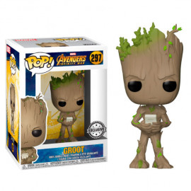 Figura FUNKO POP! Vinyl MARVEL Avengers Infinity War: Teen Groot with Video Game Ex.