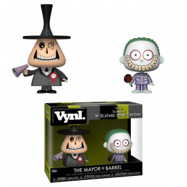 Pack de 2 Figuras FUNKO VYNL DIsney Nightmare Before Christmas: The Mayor & Barrel