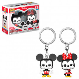 Pack de 2 Llaveros FUNKO POP! Pocket Disney: Mickey & Minnie