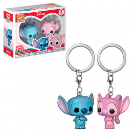 Pack de 2 Llaveros FUNKO POP! Pocket Disney: Stitch & Angel