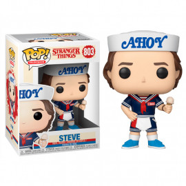 Figura FUNKO POP! Vinyl Stranger Things: Steve w/ Hat and Ice Cream