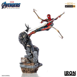 Estatua BDS Iron Studios MARVEL Avengers End Game: Spiderman vs Outrider