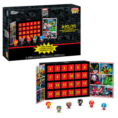 Pack de Figuras FUNKO POP! MARVEL: Calendario de Adviento