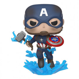 Figura FUNKO POP! Vinyl MARVEL Avengers End Game: Captain America w/ Mjolnir & Shield