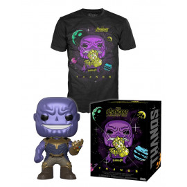 Pack Figura y Camiseta FUNKO POP! Vinyl MARVEL Avengers End Game: Thanos
