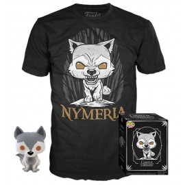 Pack Figura y Camiseta FUNKO POP! Vinyl Game of Thrones: Nymeria