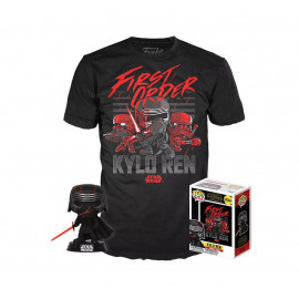 Pack Figura y Camiseta FUNKO POP! Star Wars: Kylo Ren (Supreme Leader)