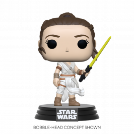 Figura FUNKO POP! Vinyl Star Wars: Rey w/ Yellow Saber