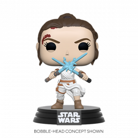 Figura FUNKO POP! Vinyl Star Wars: Rey w/ 2 Light Sabers