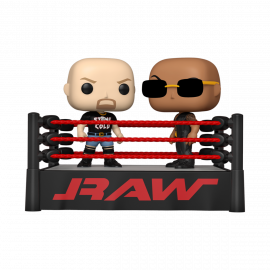 Figura FUNKO POP! Vinyl WWE: The Rock vs Stone Cold in Wrestling Ring